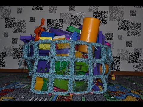 Корзина для игрушек из пластиковых бутылок/basket of toys from plastic bottles скачать