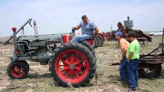 Trailer Hitched to Farmall Tractor