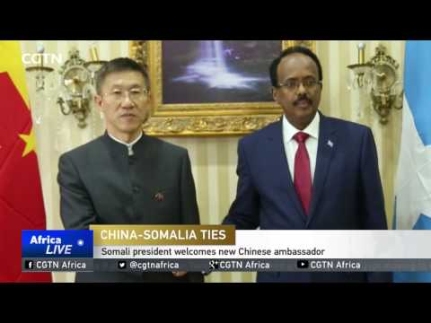 Somali president welcomes new Chinese ambassador to Somalia