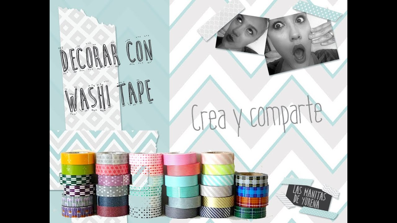 decorar con washi tape youtube
