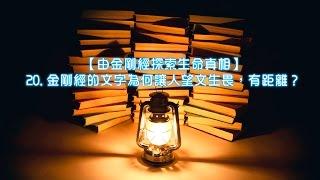 由金剛經探索生命真相 20 金剛經的文字為何讓人望文生畏 有距離 劉心陽醫師 cc中文字幕