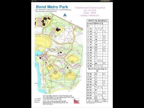 BOK Orienteering Sprint in Bond Park 7/19/2015