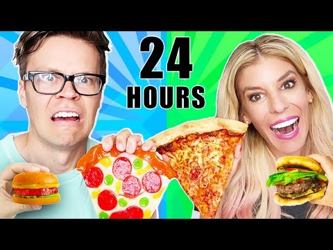 We only Ate Gummy Vs. Real Food for 24 Hours