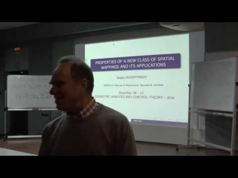 GACT 2016: Sergey Vodopyanov - Properties of a new class of spatial mappings