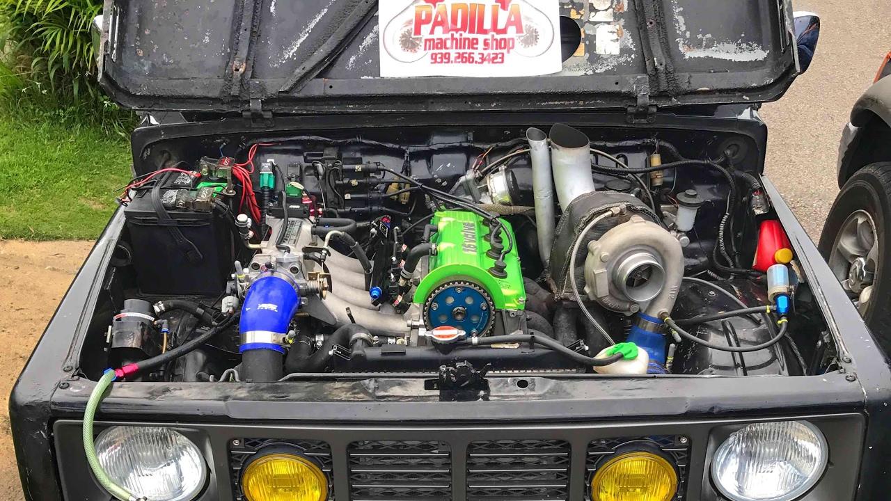 Cabro Fino Dyno Run - Suzuki Samurai G13B 1 3L 16 Valve SOHC Turbo