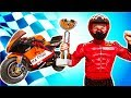 Funny Baby Biker and Race on Power wheels Quad bike Police car Motorcycle Sport Car
