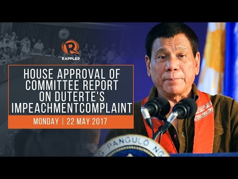 LIVE: House approval of committee report on Duterte impeachment complaint