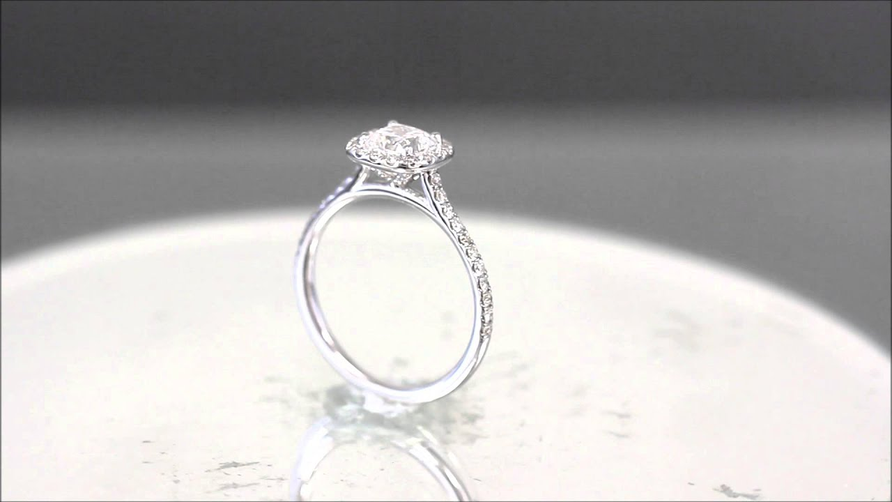 engagement cushion carat diamond ring watch youtube cusion cut