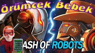Örümcek Bebek ve Sincap Clash of Robots Oynuyor Güzel Tablet Oyunu