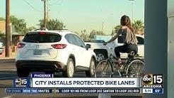 City of Phoenix installs protected bike lanes