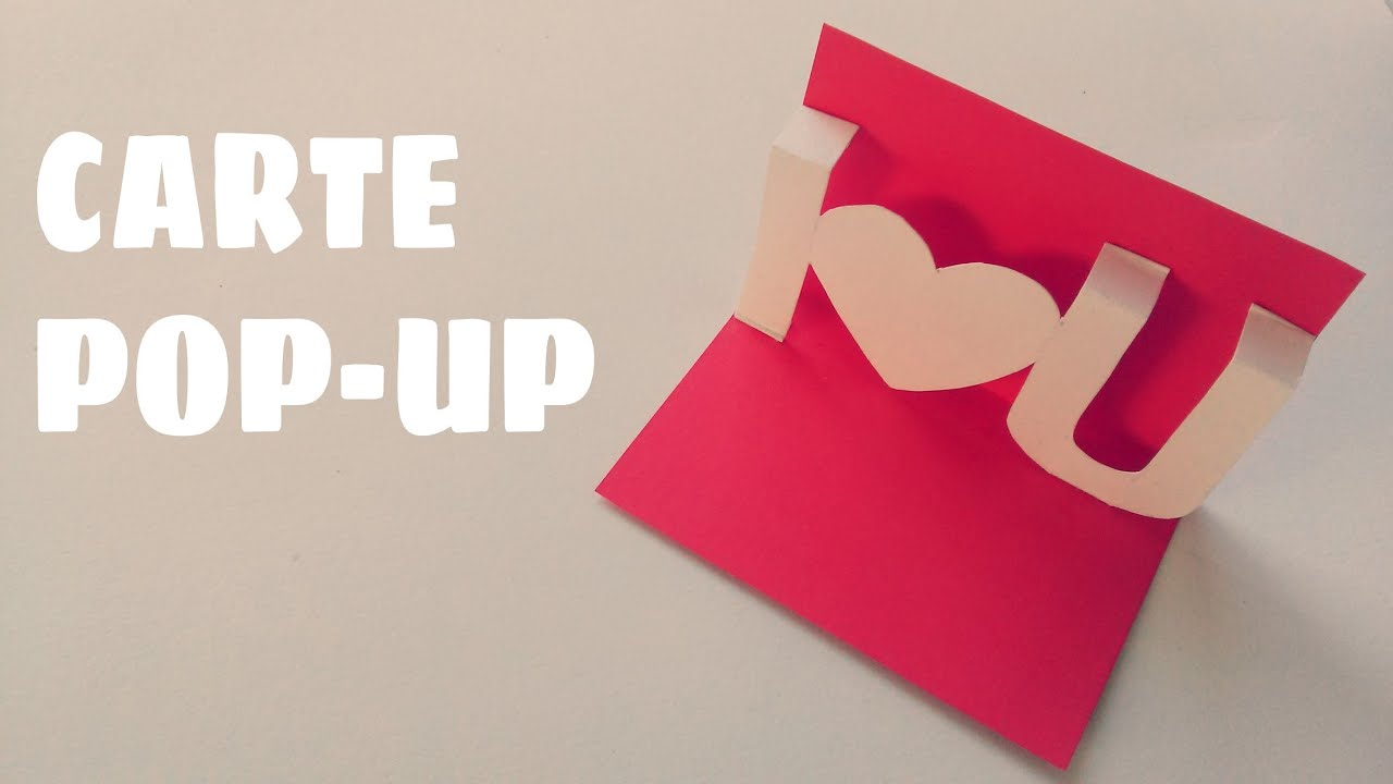 Carte de saint valentin carte pop up youtube - Bricolage facile st valentin ...