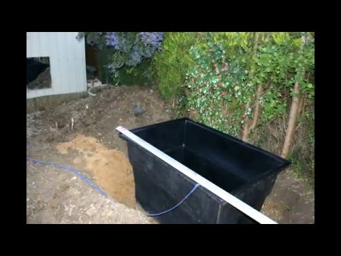 Rectangular Preformed Pond Liner Kio Fish Ponds Youtube