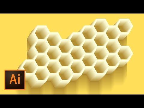 Honeycomb Vector Illustration - Illustrator Tutorial