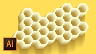 Honeycomb Vector Illustration - Illustrator Tutorial | Education