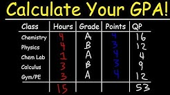 How To Calculate Your GPA In College