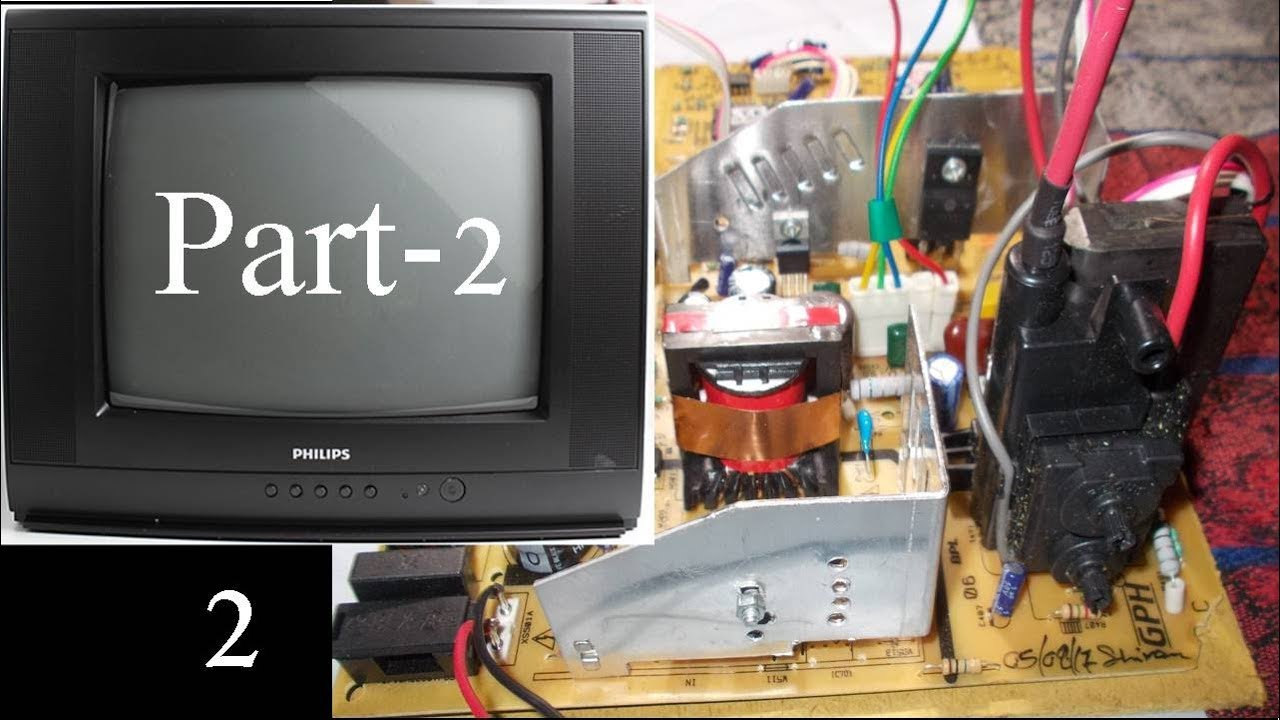Philips Tv Circuit Diagram | How To Assemble Crt Tv Circuit Board In Hindi Crt Tv Replacement
