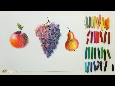 Как рисовать масляной пастелью урок для детей ВИДЕО