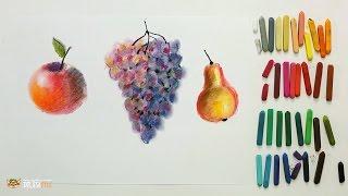 """Курс рисования """"Сухая пастель"""" Начинающие. Урок 2-1. Фрукты."""