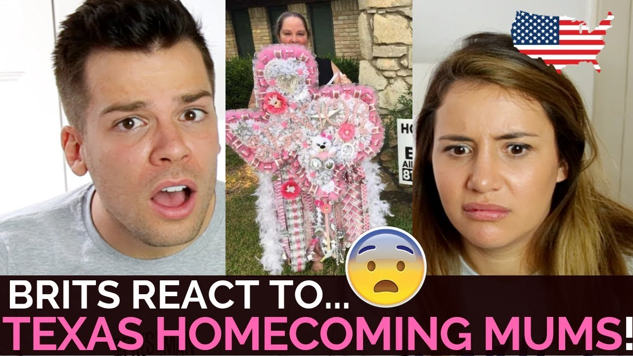 Brits React To Texas Homecoming Mums Youtube