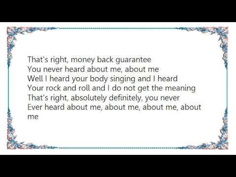 Frank Black - You Never Heard About Me Lyrics mp3
