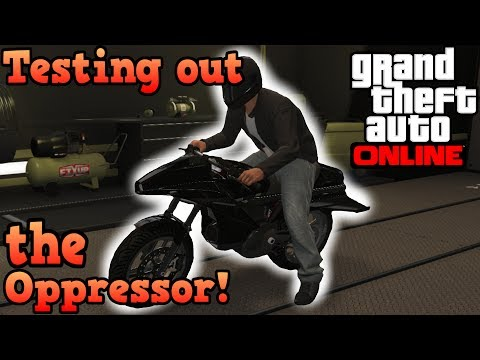 Testing out the Oppressor! (Flying bike) - GTA Online Gunrunning