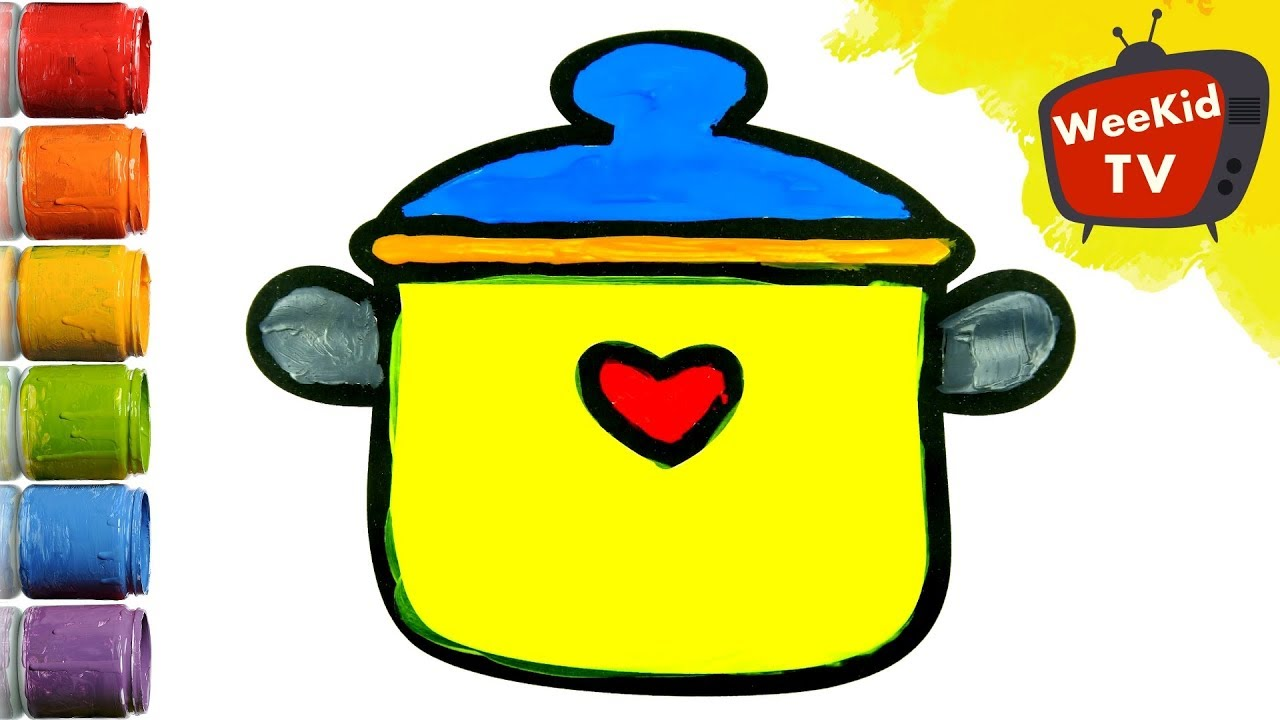 draw kitchen pot bee nest for kids coloring pages colouring