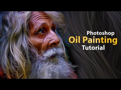 how to Create Oil Paint Image In Photoshop Tutorial 2019