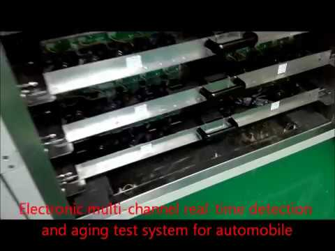 Electronic multi channel real time detection and aging test system for automobile