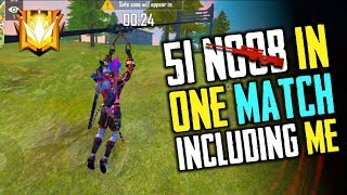Download lagu 51 Noob in 1 Match Including Me Garena Free Fire Total Gaming MP3