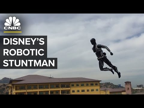 "Watch Disney's ""Stuntronics"" Robot Perform Acrobatics | CNBC"