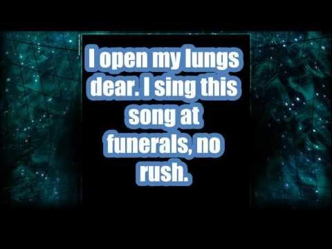 Black Veil Brides- The Mortician's Daughter w/ lyrics onscreen