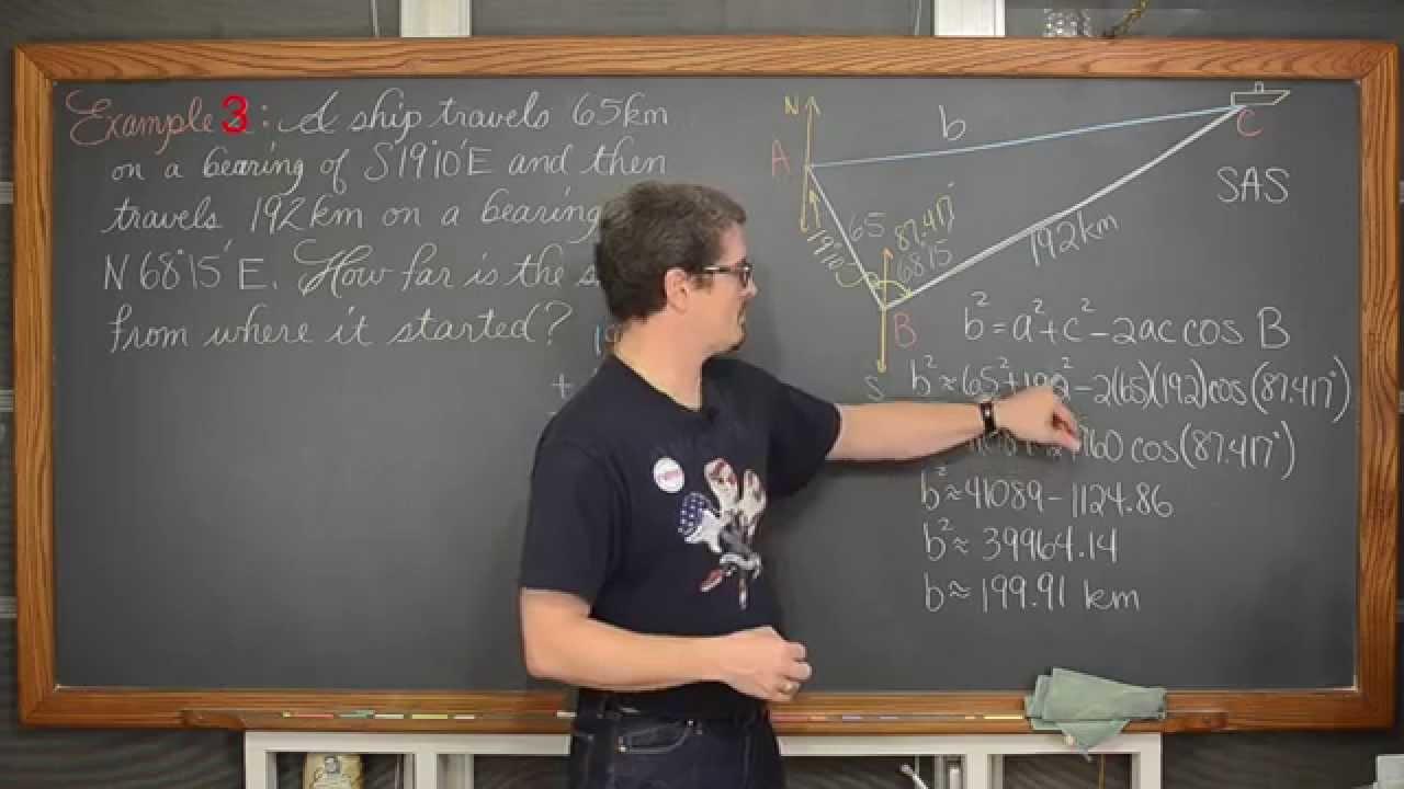 Bearing Word Problems 4 Examples Trigonometry Word Problems Precalculus [ 720 x 1280 Pixel ]