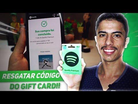 Como usar o Gift Card do Spotify   Resgatar o código!