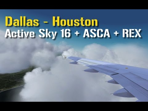 P3D v3.3: Active Sky 16 + ASCA + REX | American Airlines | Dallas - Houston | Aerosoft Airbus