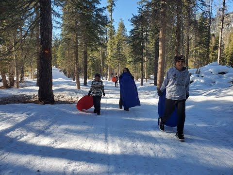 2020 1st Snow Trip of the Year to Huntington Lake Passing Shaver Lake