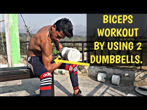 BICEPS WORKOUT BY USING 2 DUMBBELLS   || ANISH FITNESS ||