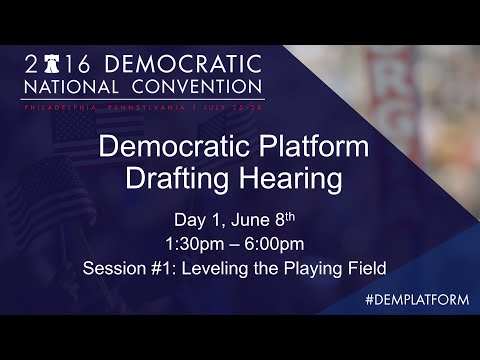 Democratic Platform Drafting Hearing - Day 1