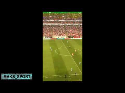 Болельщик выбежал на поле во время матча Россия 9-0 Сан марино. Евро-2020