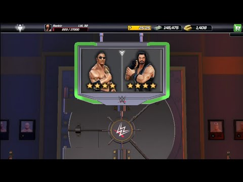 WWE MAYHEM-every Loot Cases Is Open, Ist 4 Star Superstar.