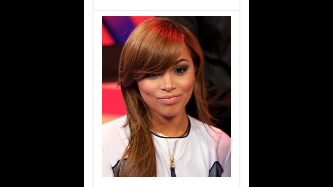 Lauren London Inspired Full Sew In With Swooped Side Bang ...