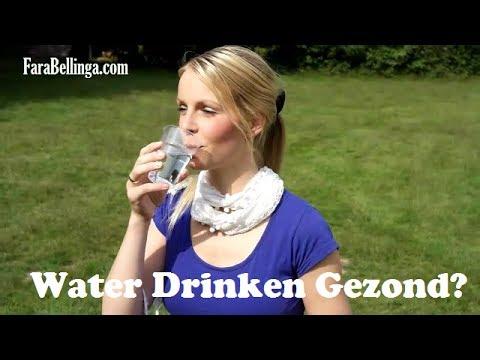 gezond afvallen water drinken