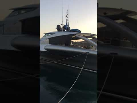 Mega yacht in Patmos marines