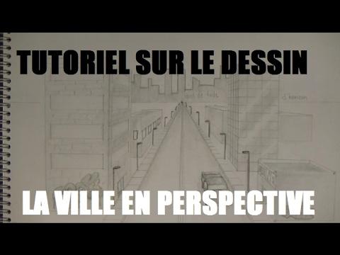 Tutoriel sur le dessin: LA VILLE EN PERSPECTIVE - YouTube