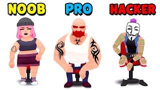 NOOB vs PRO vs HACKER - Ink Inc. (Tattoo Drawing)