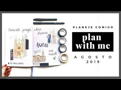 meu bullet journal com tema são paulo em aquarela - plan with me | daniela kang