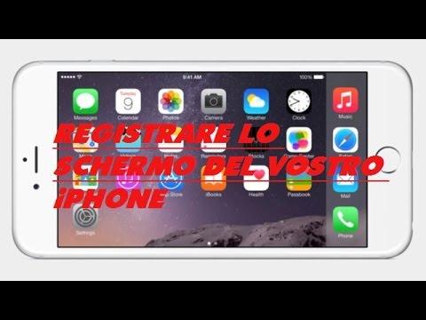 registrare schermo iphone senza volume