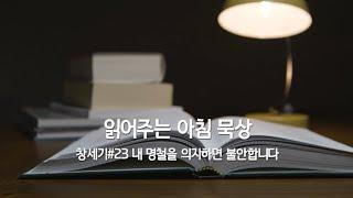 읽어주는 아침 묵상 I 창세기 #23 내 명철을 의지하면 불안합니다  I 이혜진 목사 I 6월 16일 수요일