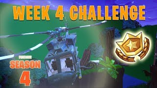 Fortnite Search Between a Bench, Ice Cream Truck and a Helicopter Location Week 4 LEAKED Challenges