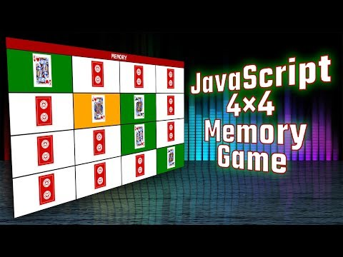 Part 1 - HTML / CSS - 4×4 Memory Game In JavaScript