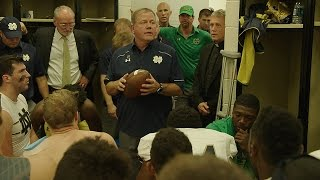 Notre Dame Football Coach Brian Kelly Leads Emotional Team Huddle | Episode 2 Preview